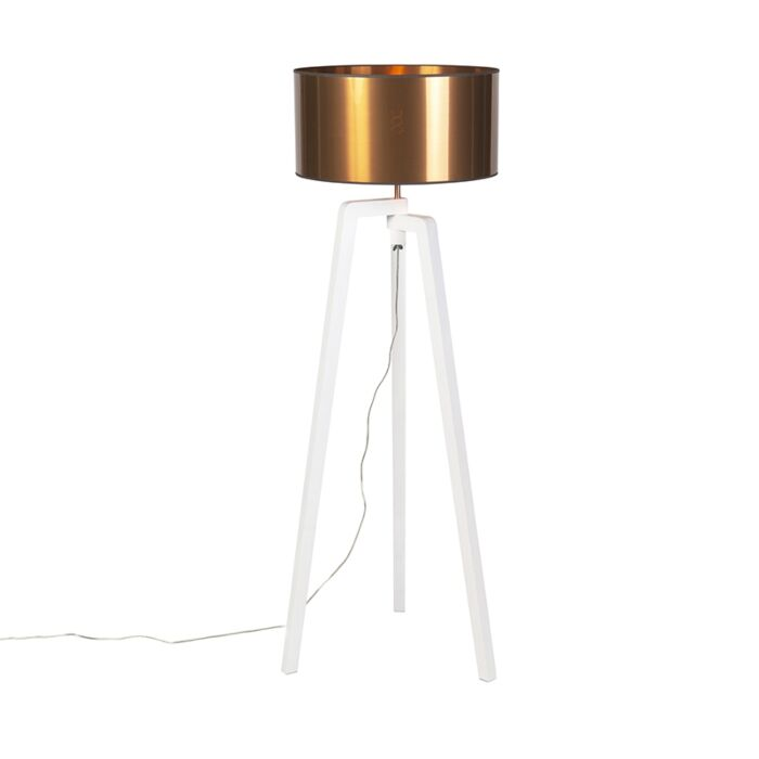 Design-vloerlamp-wit-met-kap-koper-50-cm---Puros