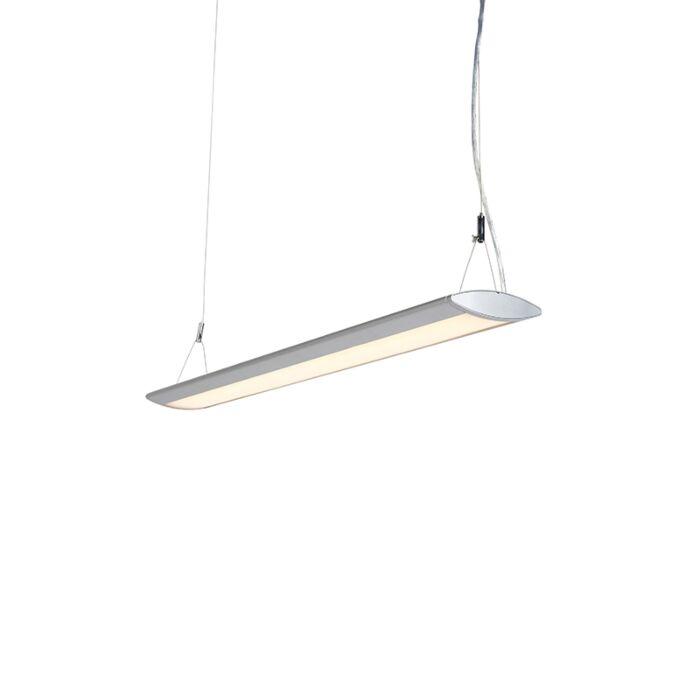 Moderne-langwerpige-hanglamp-zilver-95cm-incl.-LED---Duct-O