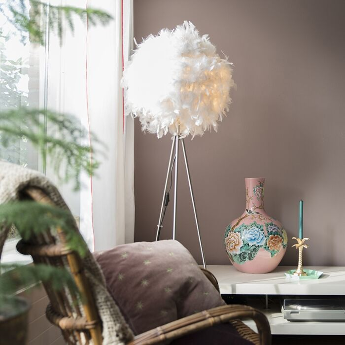 Romantische-vloerlamp-wit---Feather