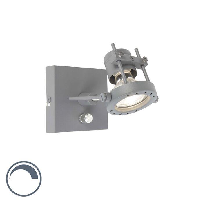 Industriele-wandlamp-donker-grijs-met-dimmer---Suplux