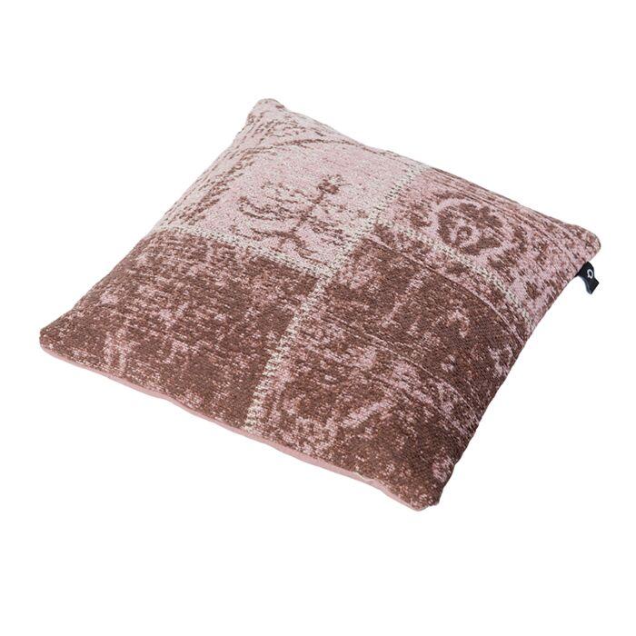 Vintage-vierkant-kussen-oud-roze-45-x-45cm---Agra
