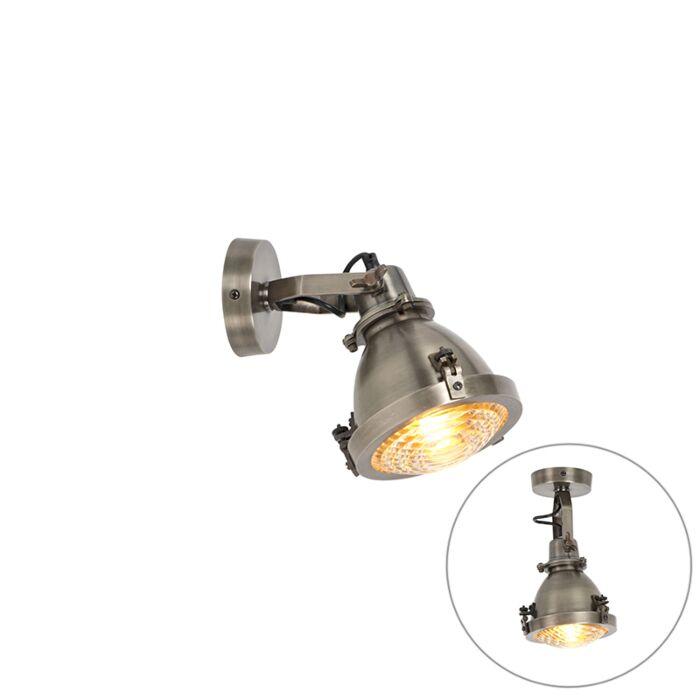 Industriële-wandlamp-staal-met-vintage-glas---Kono