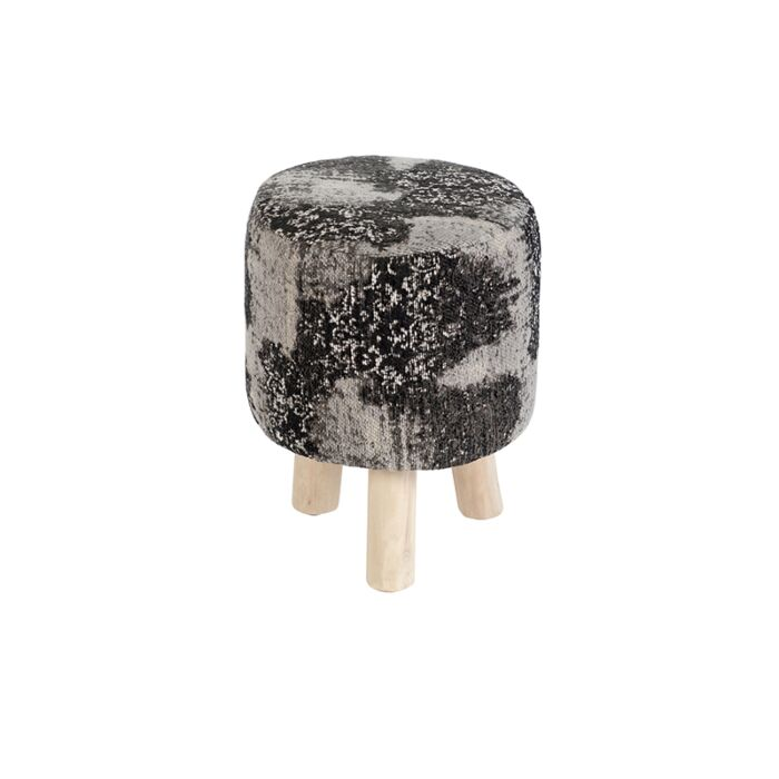 Vintage-rond-krukje-zwart/grijs-30-x-30-x-40cm---Puri