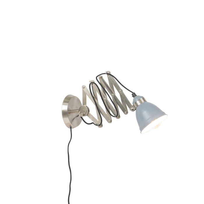 Industriële-wand-schaarlamp-staal-vertelbaar---Avera