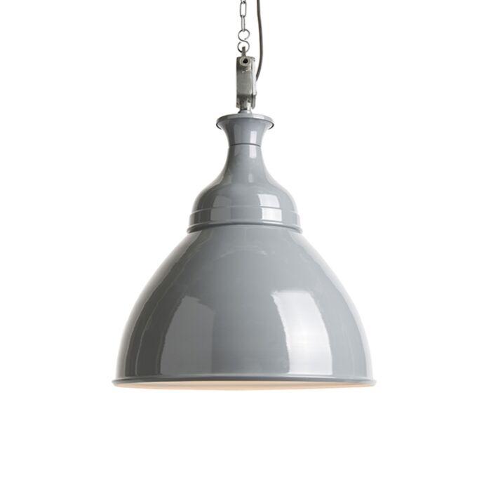 Industriële-hanglamp-grijs-met-wit---Bob