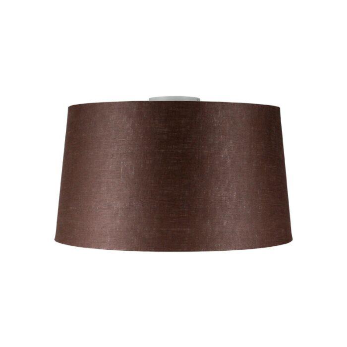 Plafondlamp-Combi-wit-met-kap-45cm-bruingrijs