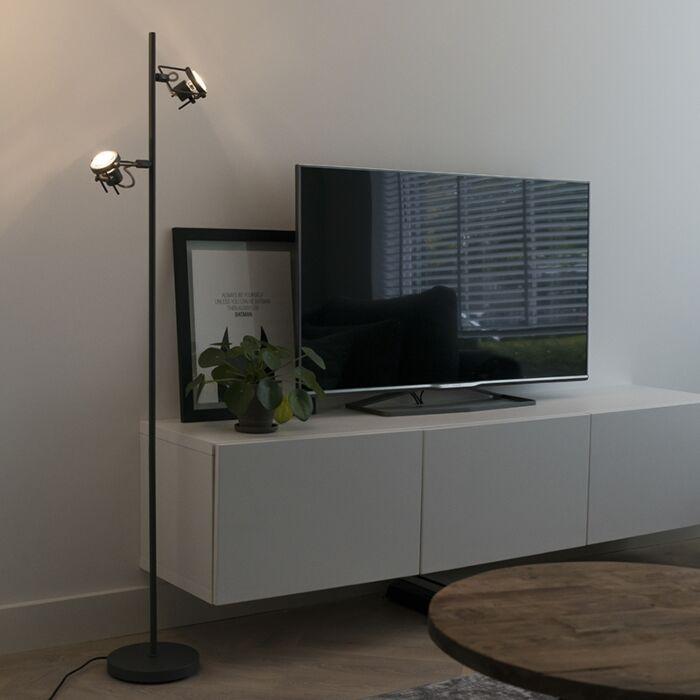 Industriële-vloerlamp-antraciet-2-lichts---Suplux