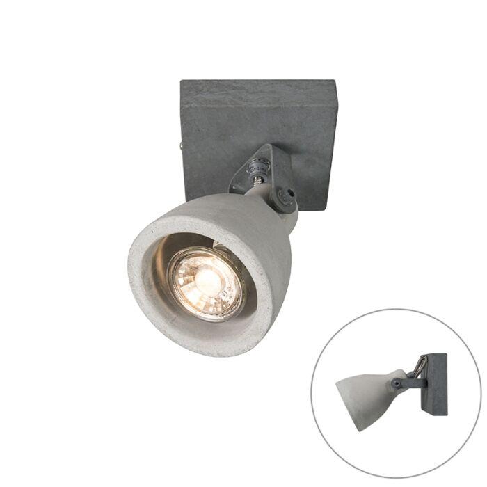 Industriële-spot-grijs-beton-1-lichts---Creto