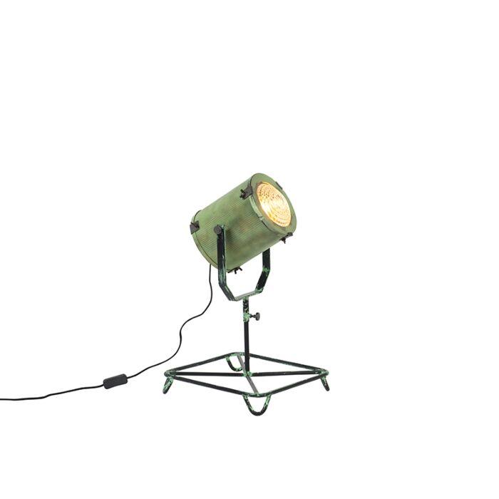 Vintage-filmspot-vloerlamp-antiek-groen-60-cm---Brooke