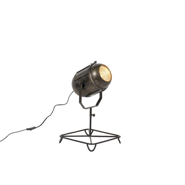 Vintage-filmspot-vloerlamp-antiek-brons-60-cm---Broca