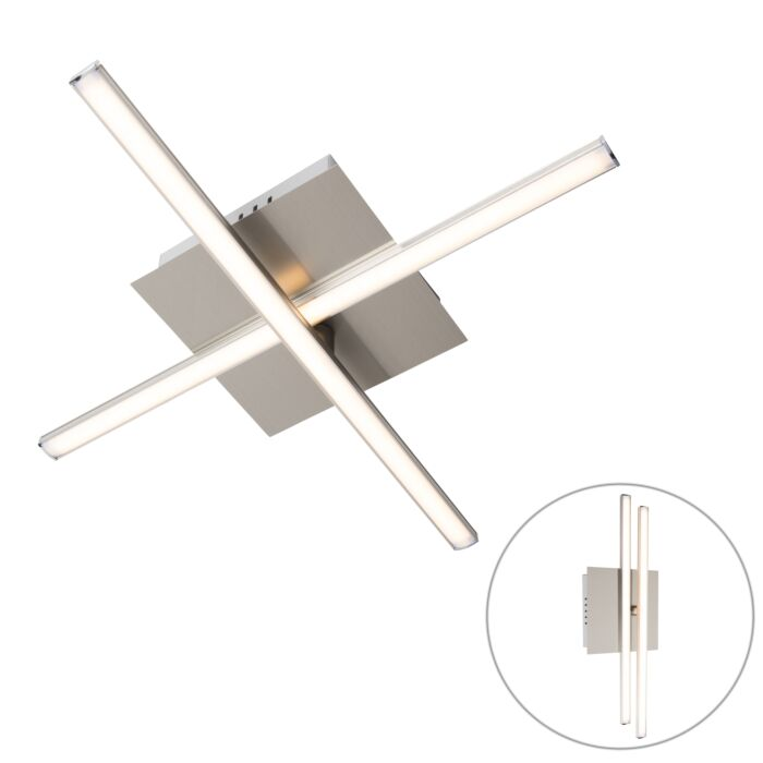 Moderne-plafondlamp-staal-LED-draaibaar---Cruz
