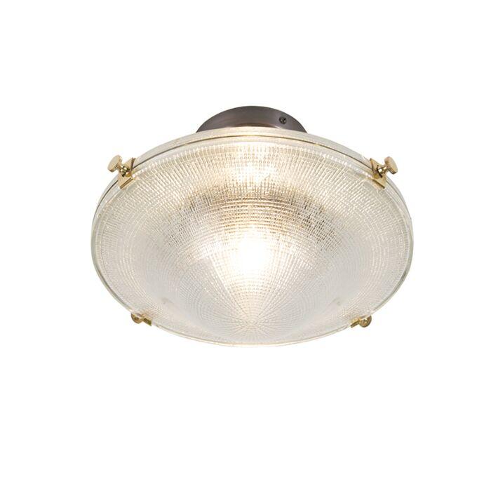 Retro-plafondlamp-koper-met-vintage-helder-glas---Anjar