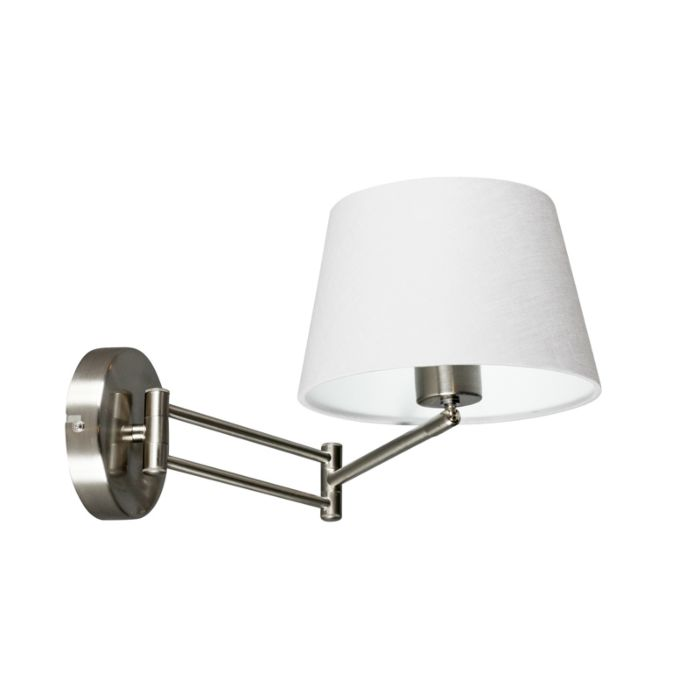 Wandlamp-Combi-staal-verstelbaar-met-kap-20cm-wit