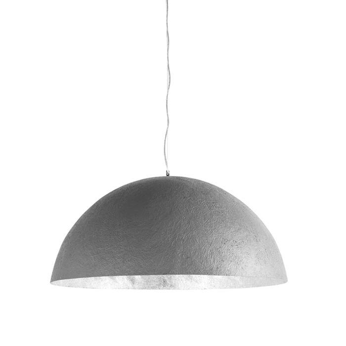 Hanglamp-Magna-70-betonlook-met-zilveren-binnenkant