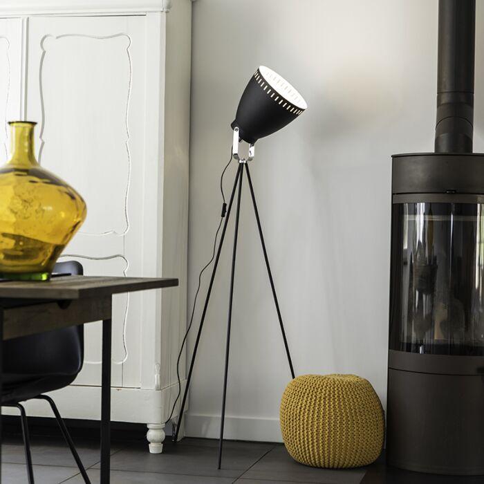 Vloerlamp-Strin-zwart