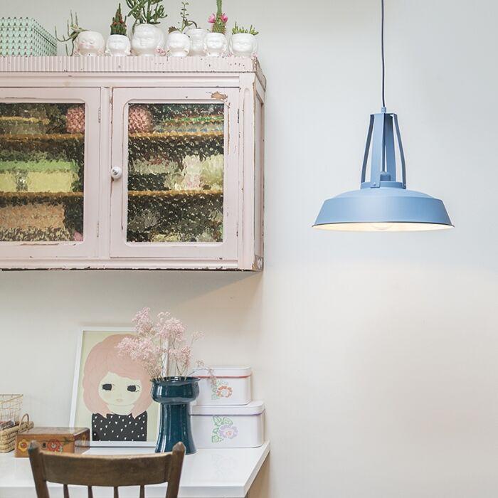 Vintage Hanglamp Blauw 43 Cm Living Lampenlicht