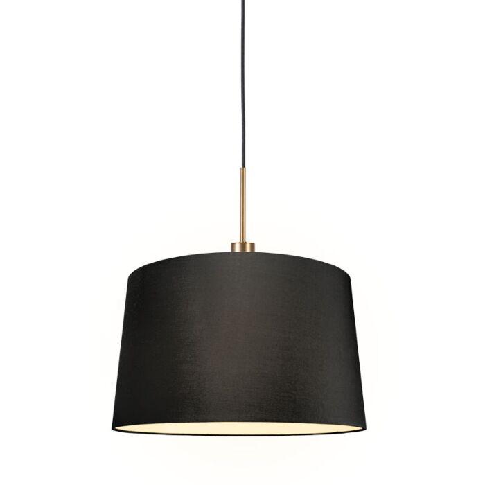 Moderne-hanglamp-brons-met-kap-45-cm-zwart---Combi-1