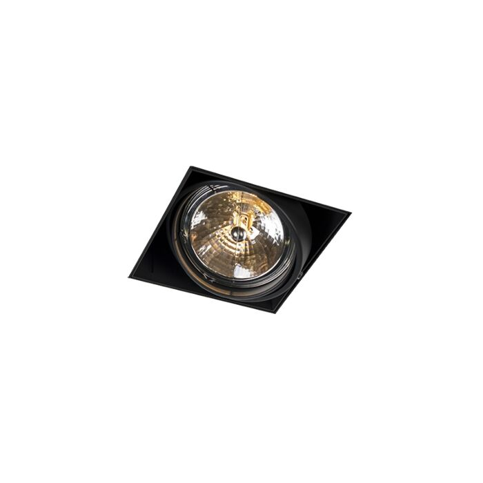 Inbouwspot-zwart-AR111-draai--en-kantelbaar-trimless---Oneon