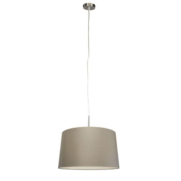 Moderne-hanglamp-staal-met-kap-45-cm-taupe---Combi-1