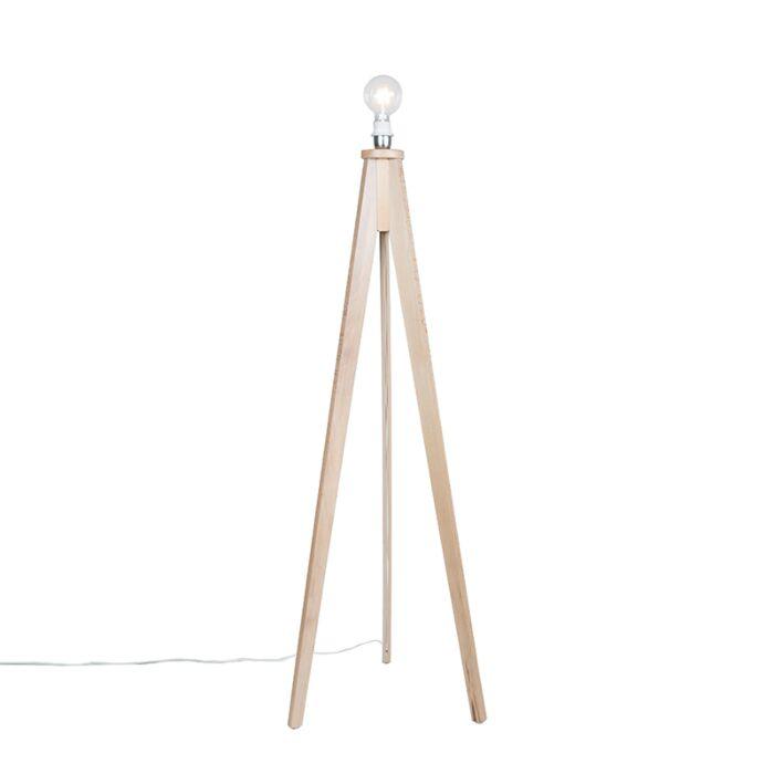 Vloerlamp-Tripod-Classic-blank-hout