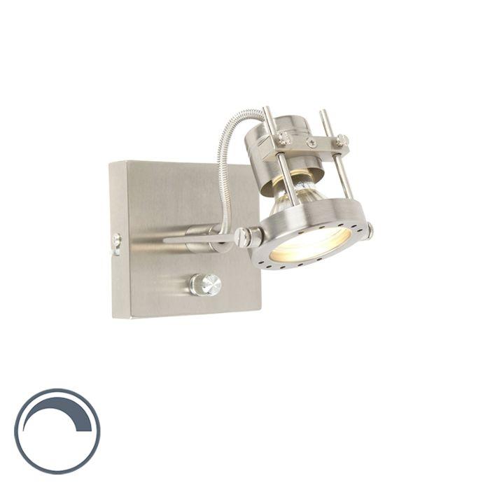 Industriele-wandlamp-staal-met-dimmer---Suplux