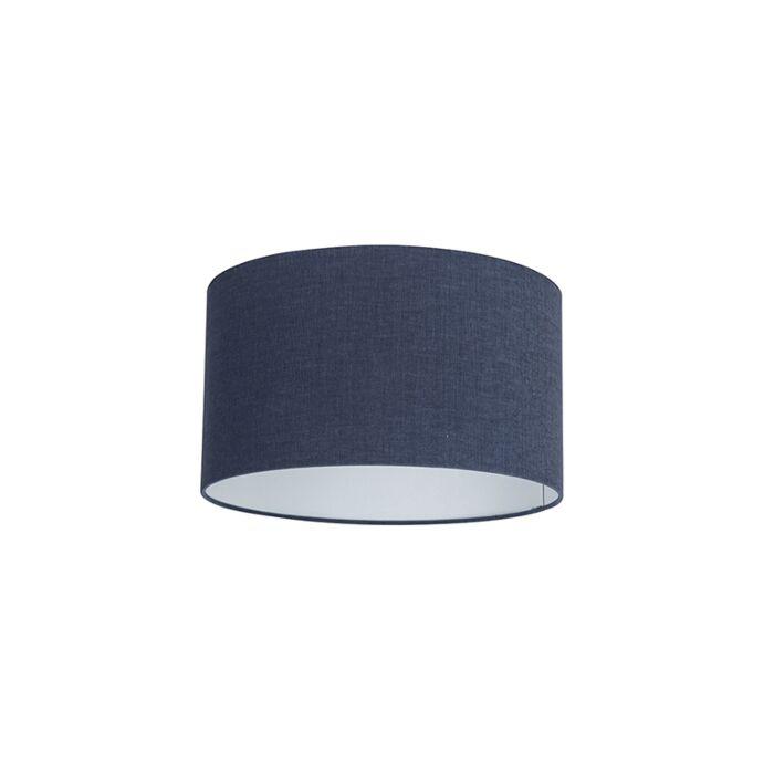 Stoffen-lampenkap-donkerblauw-35/35/20