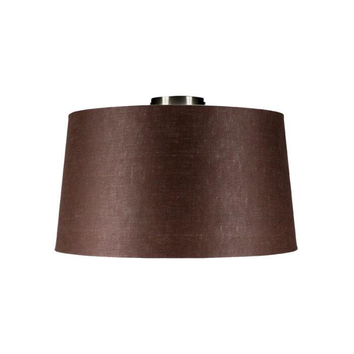 Plafondlamp-Combi-staal-met-kap-45cm-bruingrijs