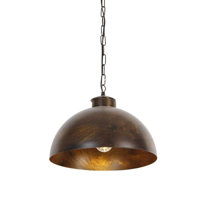 Industriële-hanglamp-roestbruin-35-cm---Magna-Classic