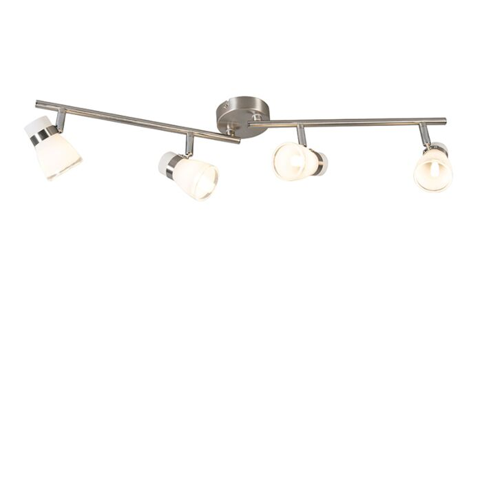 Plafondspot-staal-draai--en-kantelbaar-4-lichts---Nadia