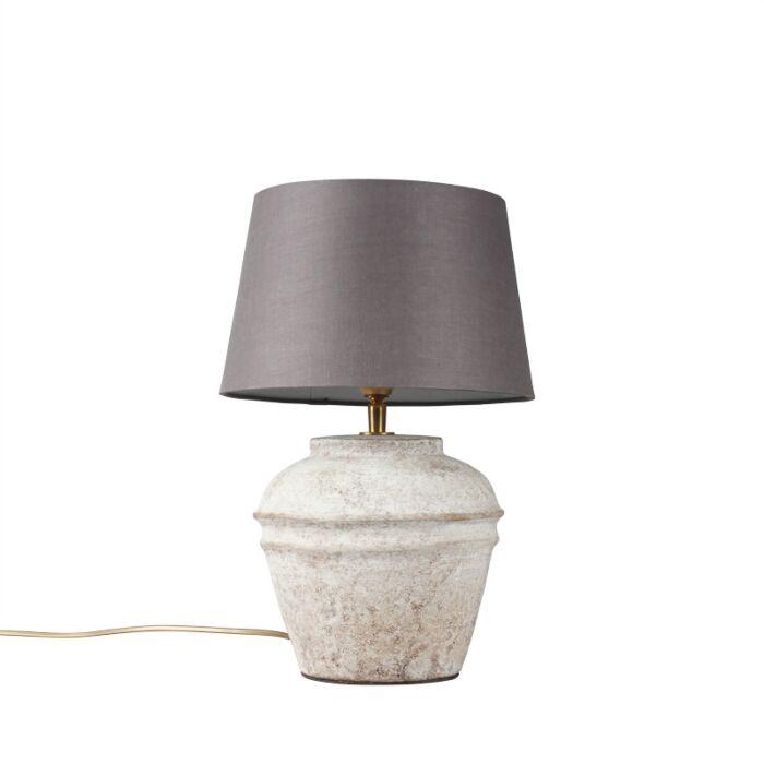 Tafellamp-Arta-XS-scotch-met-kap-25cm-bruingrijs