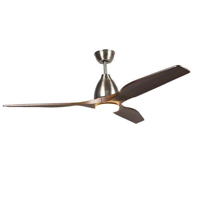 Plafondventilator-hout-incl.-LED-met-afstandsbediening---Levant-52