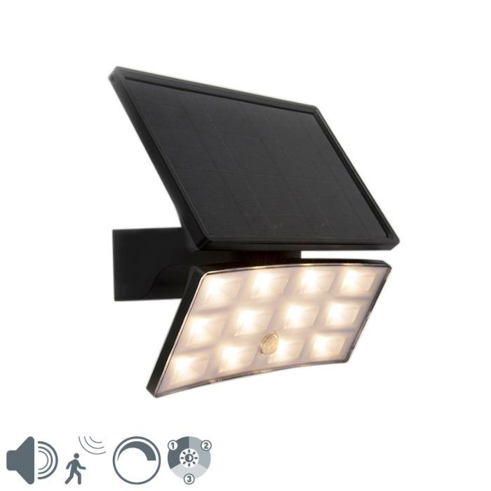 Straler-zwart-IP44-incl.-LED-met-beweging-sensor-8W---Flip