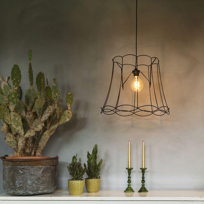 Retro-hanglamp-zwart-45-cm---Granny-Frame