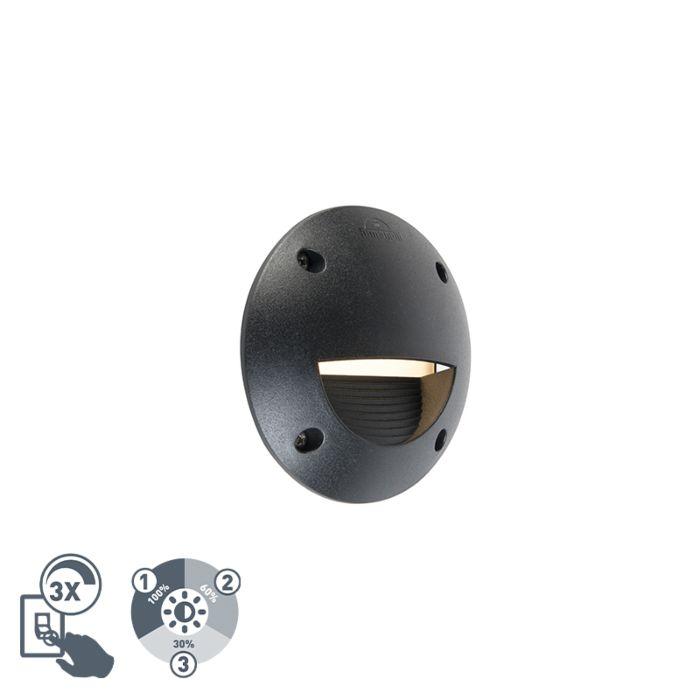 Moderne-buitenwandspot-zwart-incl.-LED-IP65---Leti