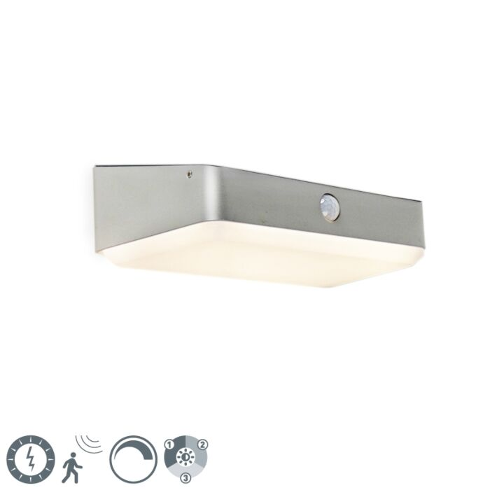 Buitenwandlamp-incl.-LED-op-solar-met-bewegingssensor---Blox