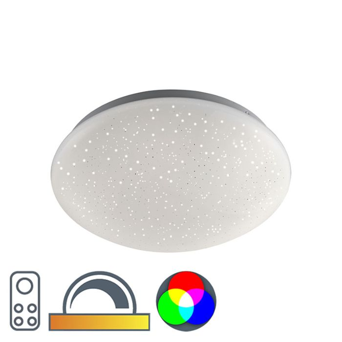 Moderne-plafonniere-wit-met-stereffect-incl.-LED---Bex