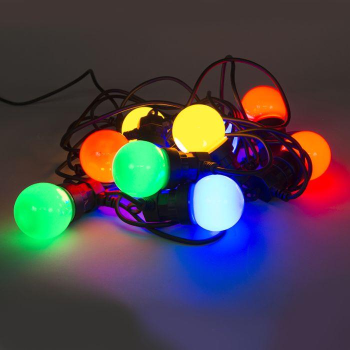 Gekleurde-feestverlichting-10-LED's-4,5-meter