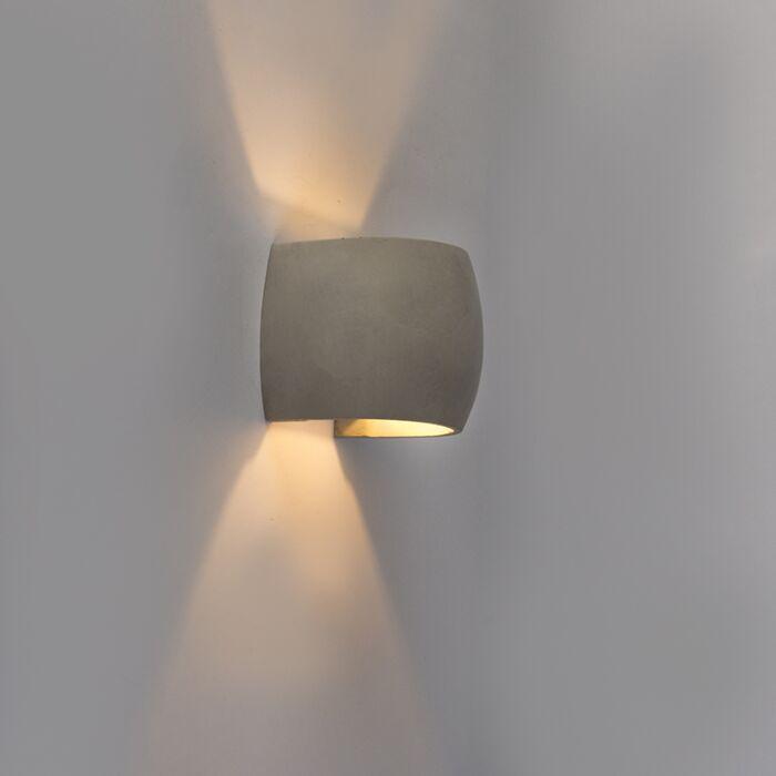 Landelijke-bolle-wandlamp-beton---Albufeira