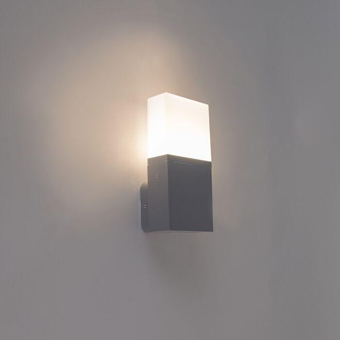 Moderne-buitenwandlamp-donkergrijs-incl.-LED-IP54---Malia