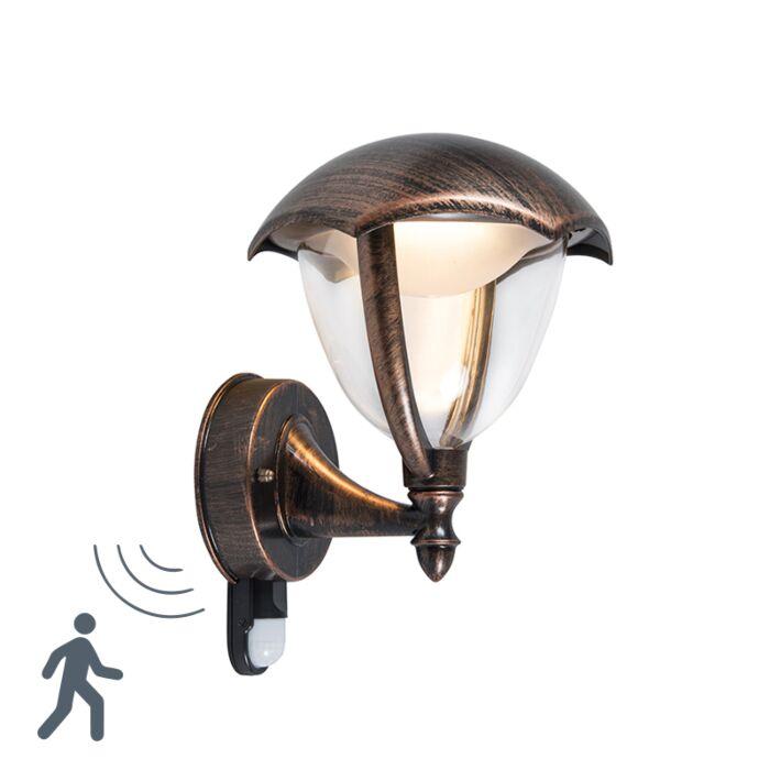Moderne-wandlamp-antiek-roest-LED-met-bewegingssensor---Cappe