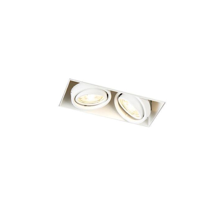 Inbouwspot-wit-GU10-draai--en-kantelbaar-trimless-2-lichts---Oneon