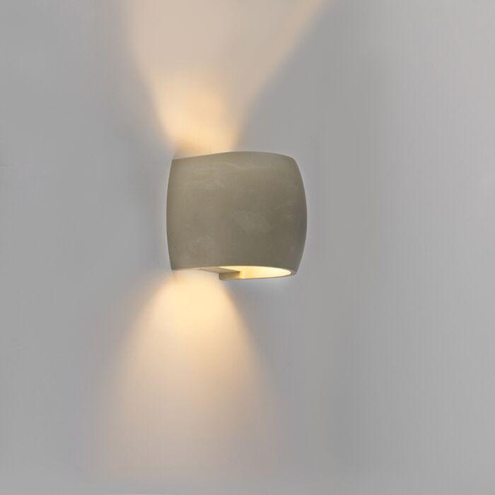 Landelijke-bolle-buitenwandlamp-beton-IP54-incl.-LED---Albufeira
