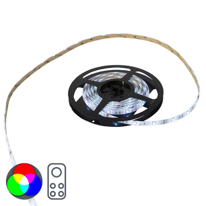 Flexibele-LED-strip-5-meter-multicolor-RGB---Teania