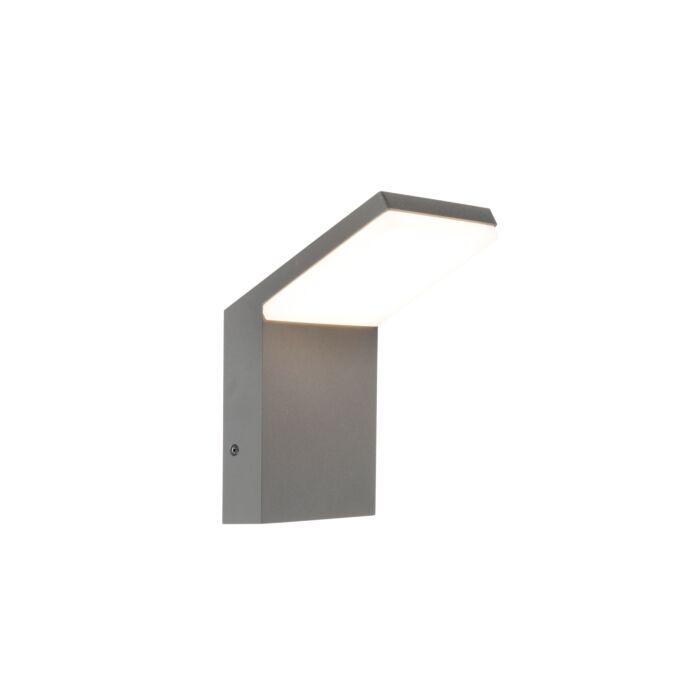 Moderne-wand-buitenlamp-donker-grijs-incl.-LED---Mapi