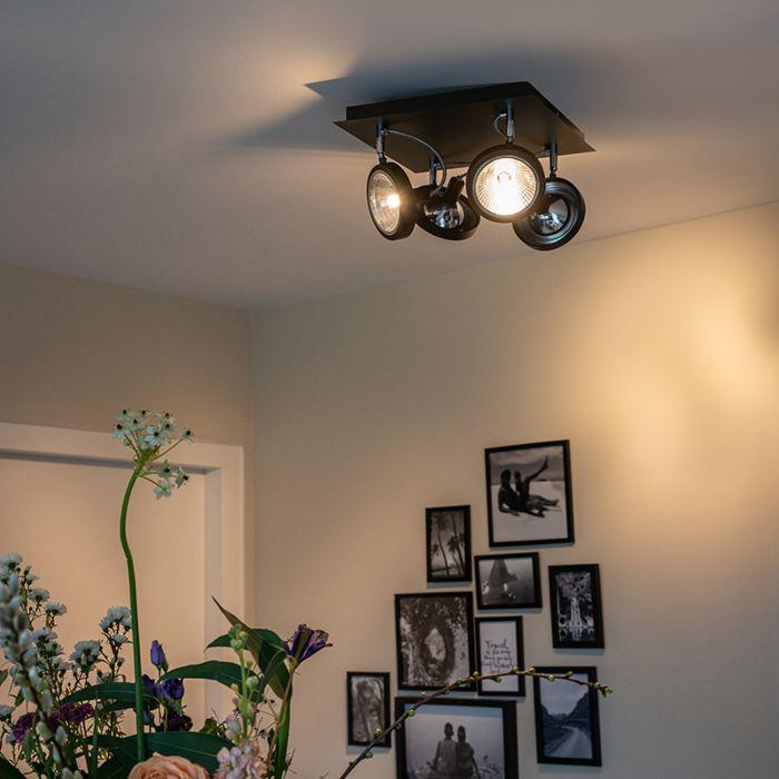Design-spot-zwart-4-lichts-verstelbaar---Nox