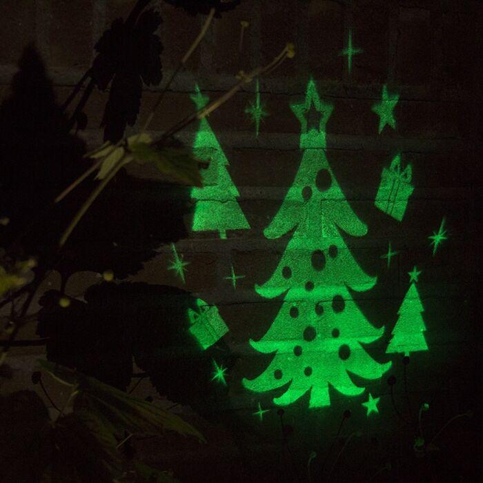Kerstverlichting-Laser-projector-LED-groen-Kerstboom