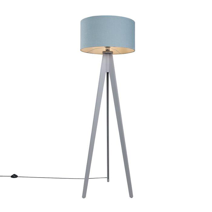 Vloerlamp-Tripod-Classic-grijs-met-kap-50cm-mineraal