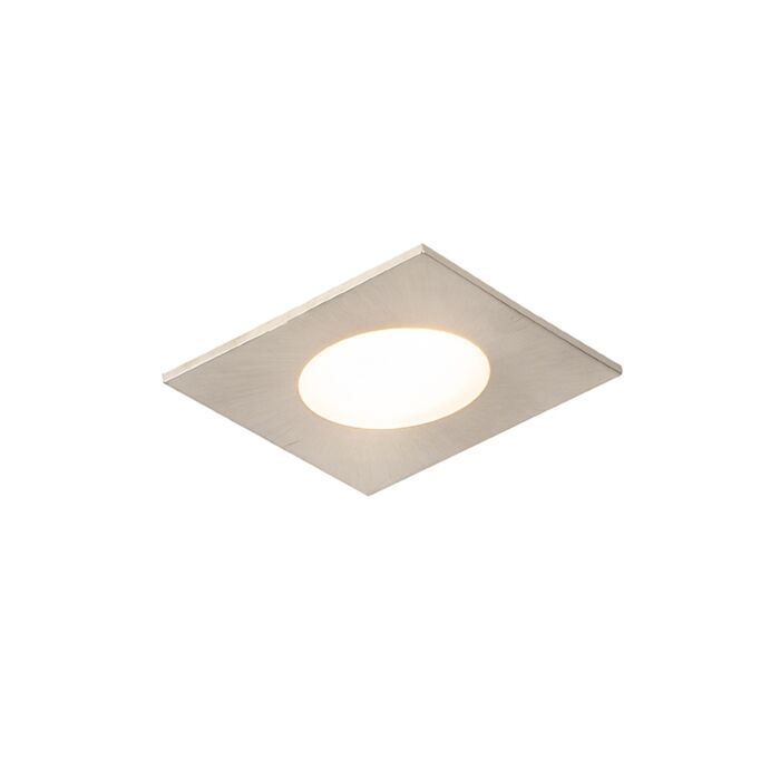 Moderne-inbouwspot-vierkant-staal-incl.-LED-IP65---Simply