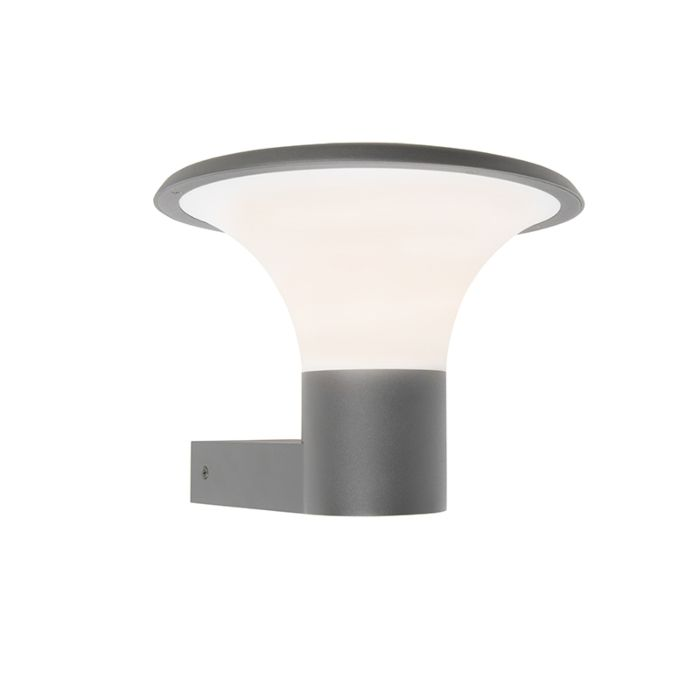 Moderne-buitenlamp-wand-donker-grijs-incl.-LED---Papi
