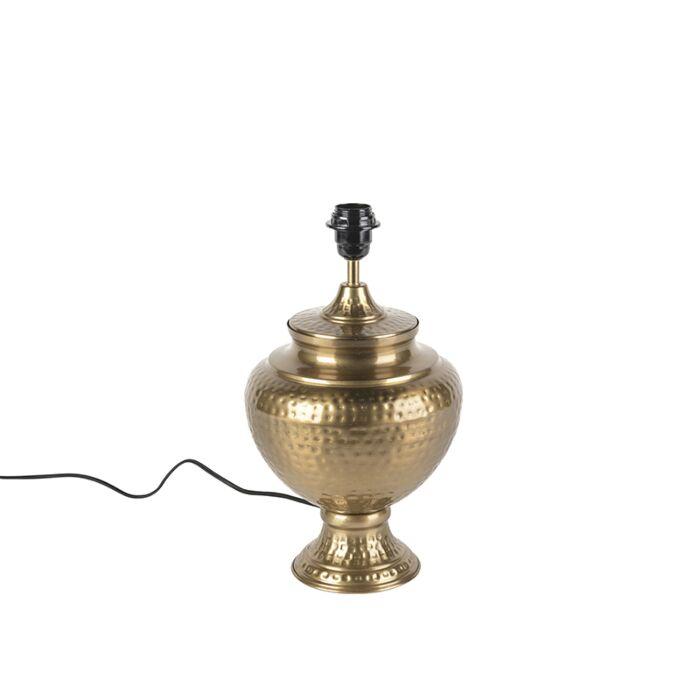 Retro-tafellamp-goud-zonder-kap---Hazard-A